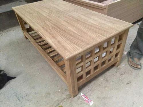 Teak Wooden Furniture Centre Table Size Dimension 4 Feet X 2