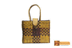 Screwpine Juno Leaf Woven Shopper Bag