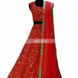 Ethnic Centrals Fancy Designer Party Wear Red Lahenga