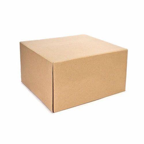 Corrugated Rectangular Plain Brown Carton Box