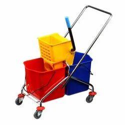 SR Luxury Mop Wringer Trolley, For Hotels