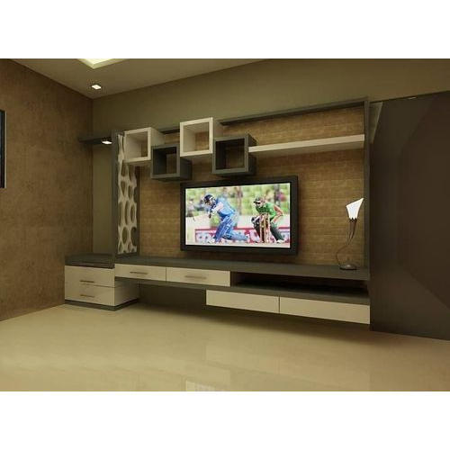 Modern Wooden Tv Unit Max Tv Screen Size 50 59 Inch Rs 500