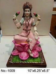 Multicolor Hindu Culture Marble Goddess Statue, For Decor, Size: 10 X 6.25 X 6.5