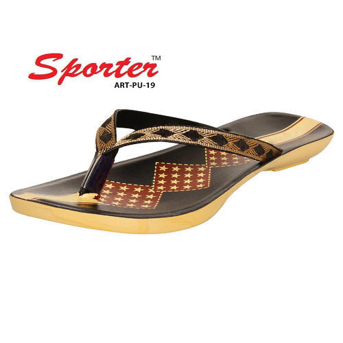 7570f7d41207 Sporter Women Black-PU-19 Slipper