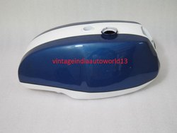 New Triumph T140 Blue And White Painted Petrol Tank (Uk Version)