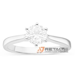 1 Carat Lab Grown Diamond Studded DEF Color Ring