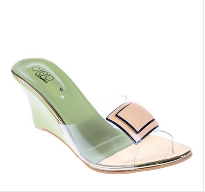 79fdfbcfc81f Green Women Cleo Green Casual Heel Sandal