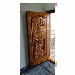 Interior Finished Wooden Decorative Door, For Home, Brown