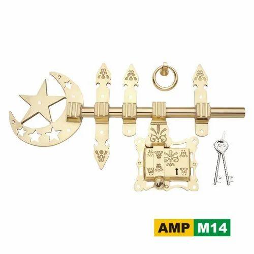 AMPS Brass AMP M14 Manichitram Lock