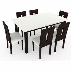 White And Dark Brown Modular Dining Table Set