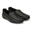 Male Black Leather Loafer Shoes, Size: 6-10