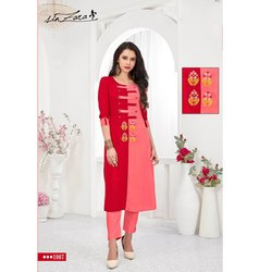 Rachna Rayon Delicate Embroidery Work Radiant Catalog Kurti For Women 7