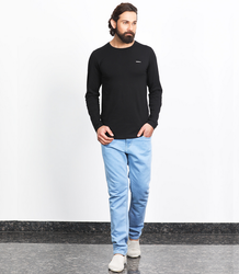 Besimple Men's Black Full Sleeve T-Shirt