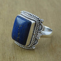 Lapis Lazuli Gemstone 925 Sterling Silver Ring Jewelry