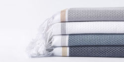 White Stripped Hamam Towels, Weight (GSM): 420 Grams