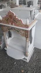 White Marble Temple, For Home, Size: 24inch