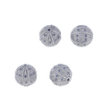 Chic Designs Diamond Silver Ball Findings, Size: 16 Mm