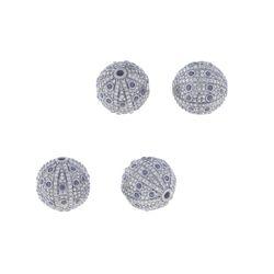 Diamond Silver Ball Findings
