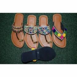 Ladies Handwork Kolhapuri Chappal