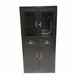 Wooden Glass Door Storage Almirah