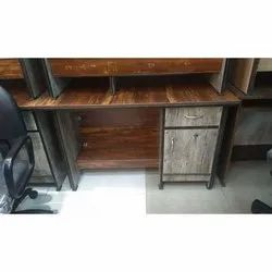 Brown Rectangle Designer Wooden Table, For Office