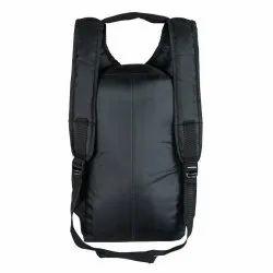 Black Polyester Casual Backpack Bag