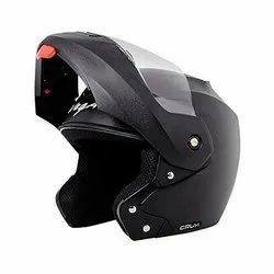 Plastic Black Vega Crux Flip-Up Helmet, For Safety, Size: M