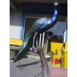 FRP Peacock Statue