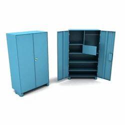 Double Door Blue Office Steel Almirah