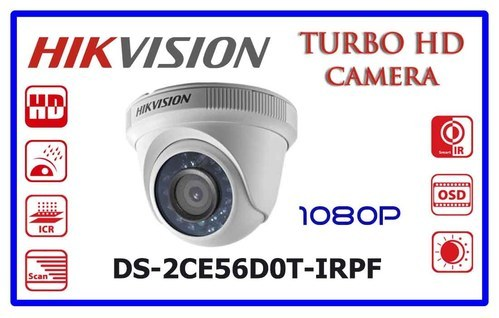 Hikvision full hd camera 2mp ds-2ce56d0t-irpf , Model No.: DS-2CE56D0T-IRPF
