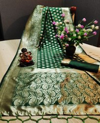 Fancy Banarasi Silk Ladies Indian Wear Saree