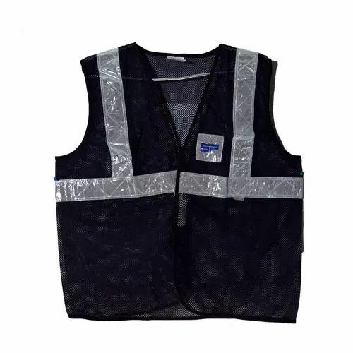 Medium And Free Size Black Reflective Jacket  7be18b06325