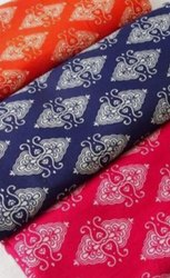 Indigo Printed Kurtis Fabric