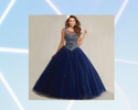 Blue Colour Gown