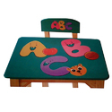 Wooden Table And Chair Set