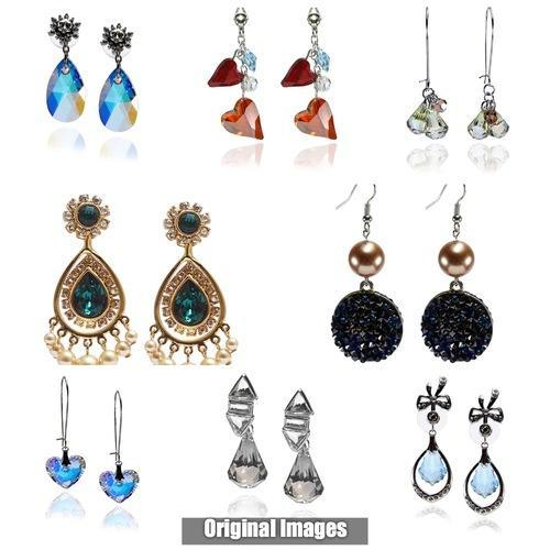 70f1dfd9e Swarovski Crystals DIY Earrings Fashion Jewellery at Rs 499 /piece ...