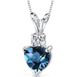 Genuine Blue Topaz Pendant