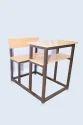 Single Seater Dual Desk Bench