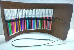 Vintage Leather Color Pen Case