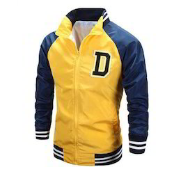 Yellow And Blue Mens Sports Jacket Rs 350 Piece Dhanushaa