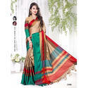 Cotton Saree With Blouse, Length: 6.3 M