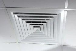 Aluminum Tile Diffuser, For Ventilation, Shape: Square