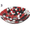 Multicolor Pebbles Resin Wash Basin