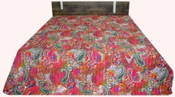 Kantha Paisley Design  Bed Cover