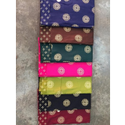 Butti Rayon Gold Foil Print Fabric