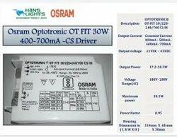 Hans Lights Osram Optotronic OT Fit 30W 400-700mA CS Driver