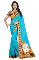 Chiffon Saree With Blouse Piece