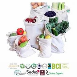 Fair Trade Organic Cotton Produce Bags