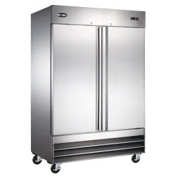 Stainless Steel Blue Star Two Door Vertical Refrigerator