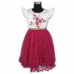 Red Stitch Girls Party Wear Frocks, Size: 26 28 30 32